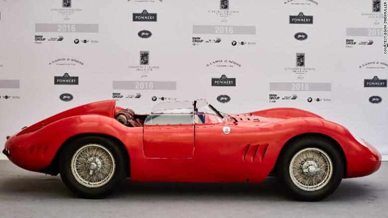 Zweimüller winning Fantuzzi-bodied 1957 Maserati 200Si