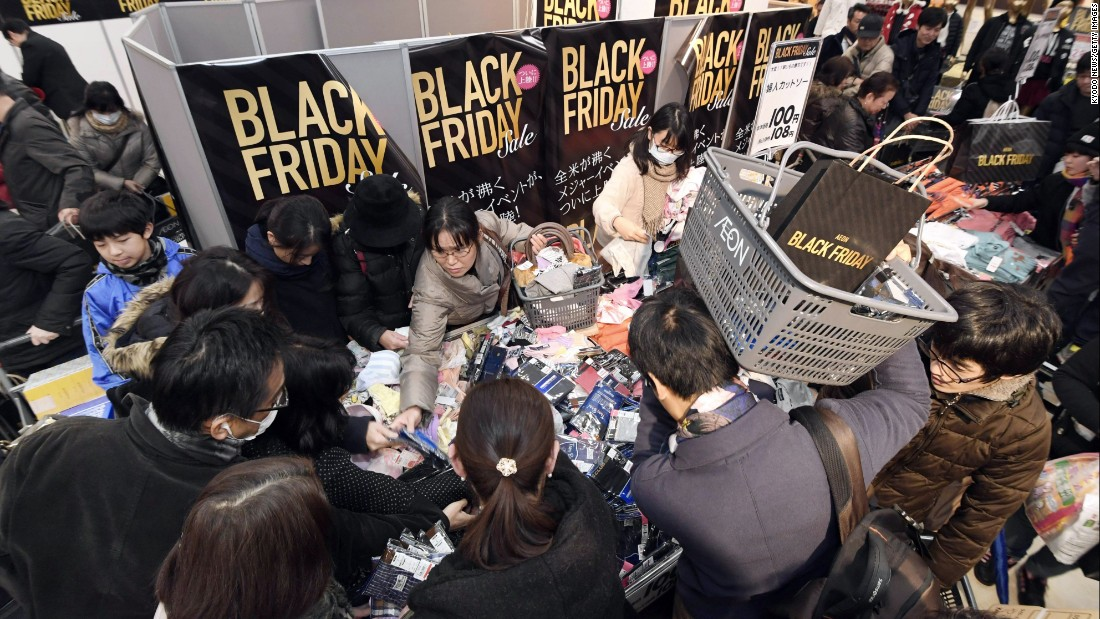 An Aeon store in Tokyo is packed with customers.