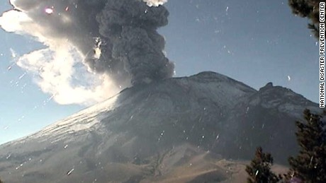 The Popocatepetl volcano, located in the states of Puebla, and Morelos in central Mexico erupted on Friday, November 25.
