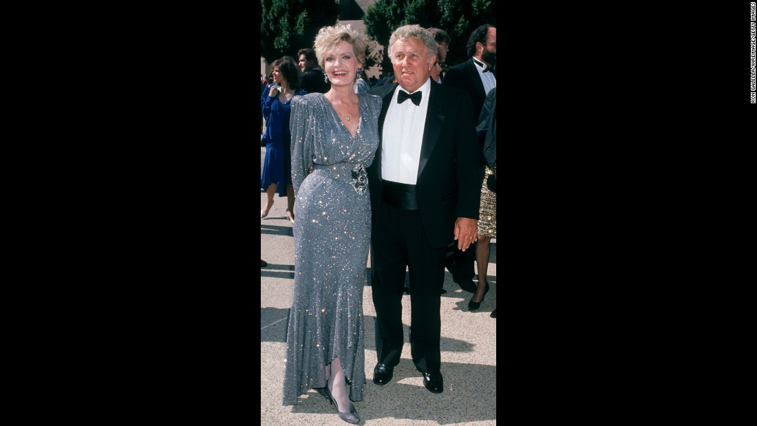 Henderson and her husband, John Kappas, attend the Emmy Awards in 1989.