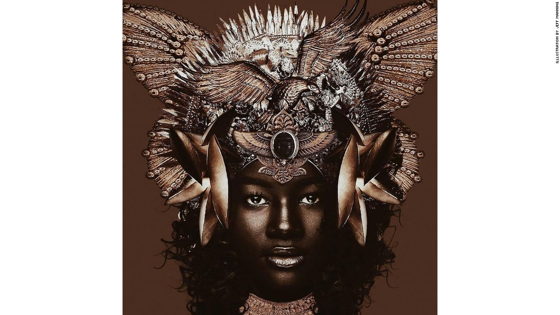 The name is a tribute to her strikingly dark skin -- a trait she was once bullied for as a child. (Illlustration by Jeff Manning)