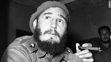 Fidel Castro photographed in Havana, Cuba, in 1961.