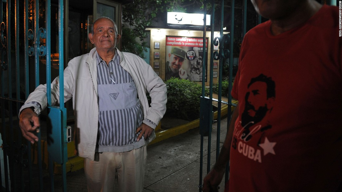 The mood seems somber in Havana on November 26 as Cubans react to the announcement of the revolutionary leader's death.