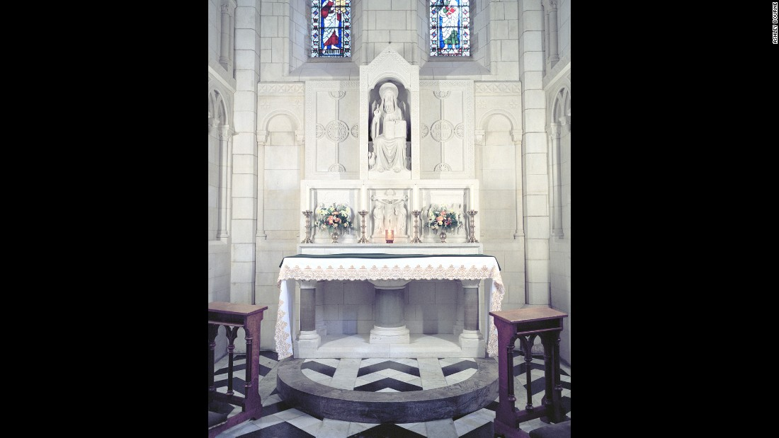 An altar in Buckfast Abbey.<br />
