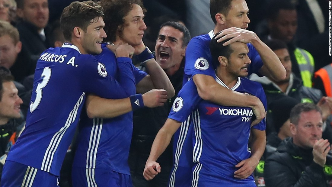 English Premier League: Chelsea tops table after seventh straight win
