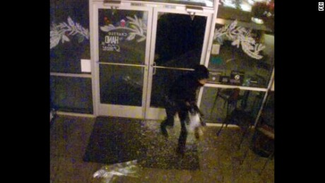 The FBI is investigating the Starbucks vandalism and released this image.
