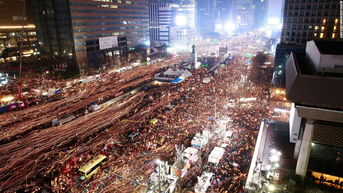 Protesters Demand Resignation Of S. Korean President