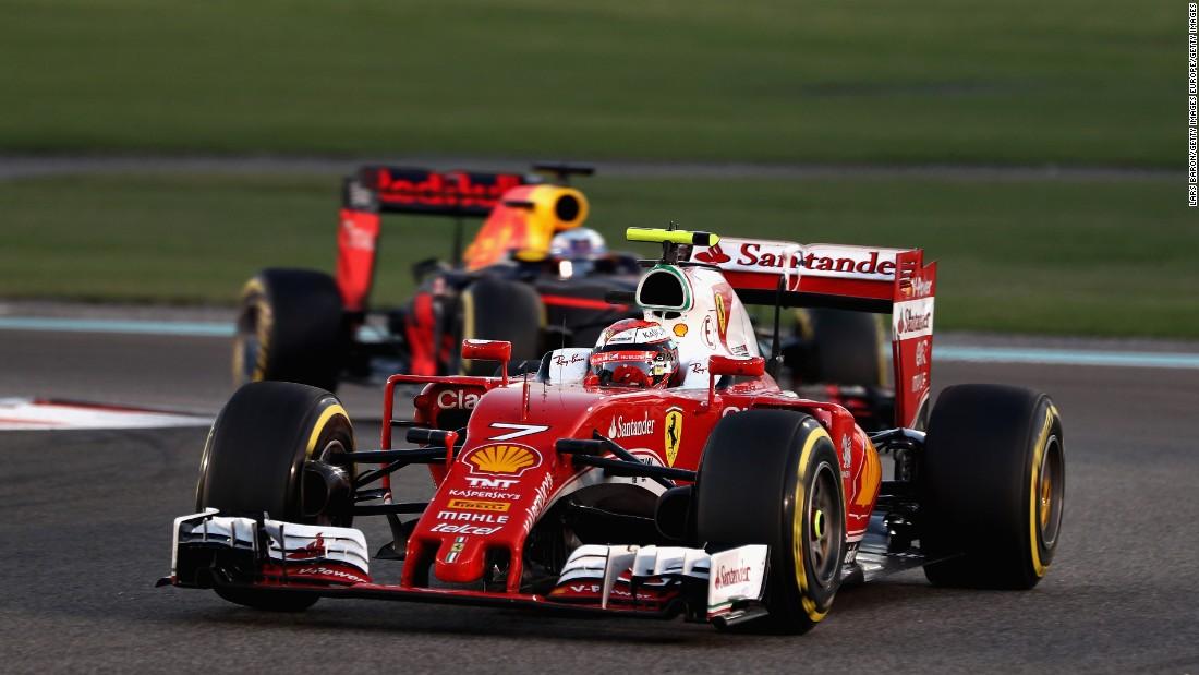 Ferrari's Kimi Raikkonen finished sixth behind Red Bull's Daniel Ricciardo.