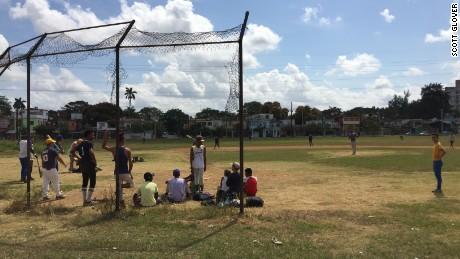Baseball is a favorite sport among Cubans.