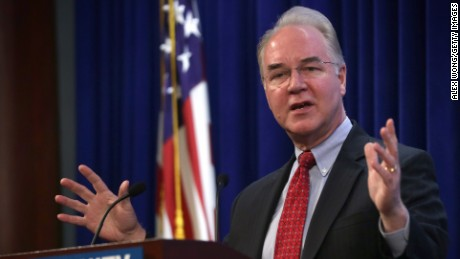 "WASHINGTON, DC - JANUARY 12:  U.S. House Budget Committee Chairman Rep. Tom Price (R-GA) addresses the second annual Conservative Policy Summit at the Heritage Foundation January 12, 2015 in Washington, DC. The theme for the summit this year is ""Opportunity for All, Favoritism to None.""  (Photo by Alex Wong/Getty Images)"