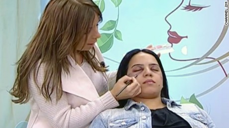 "The TV segment prompted campaigners to say, ""Do not cover domestic violence with makeup, condemn the aggressor."""