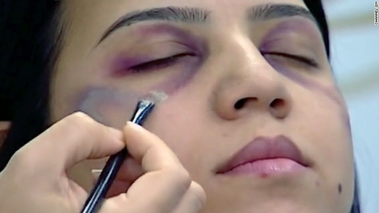 Image result for morocco domestic violence makeup