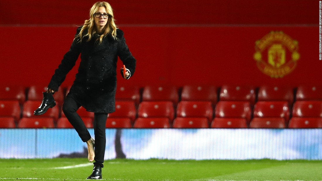 Will the Hollywood star remember to pack her football boots next time?