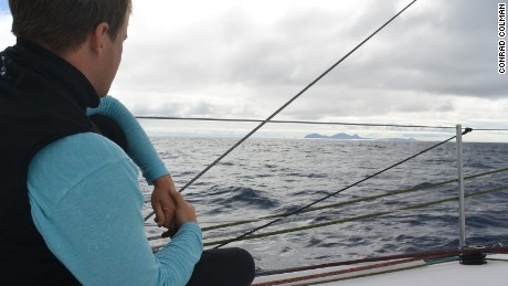 100% Natural Energy, Conrad Colman's yacht in the Vendee Globe, passes Madeira.