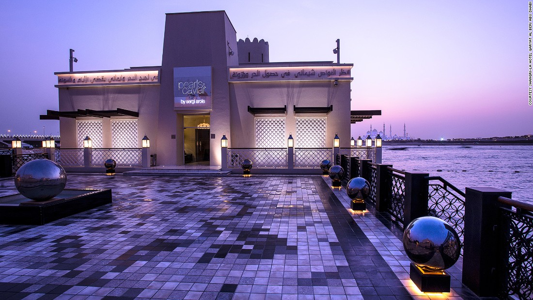 "Smit recommends <a href=""http://www.shangri-la.com/abudhabi/shangrila/dining/"" target=""_blank"">Pearls & Caviar </a>at the Shangri-La Qaryat al Beri for a drink during Abu Dhabi's cooler winter season. ""It's a glam outdoor bar with beautiful views of the Sheikh Zayed Grand Mosque. And they make great mojitos."""