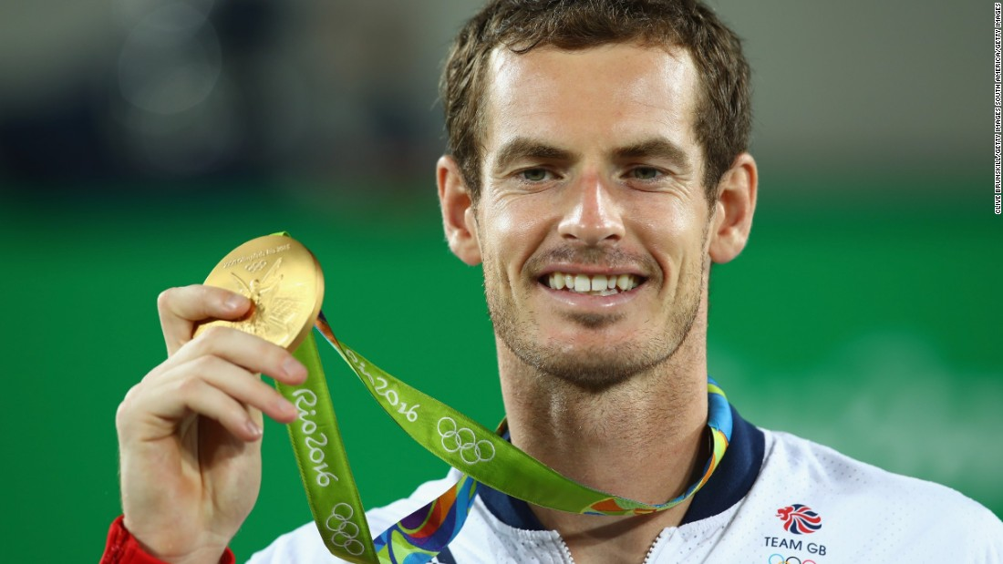 "That wasn't all. The Scot became the first tennis player to win <a href=""http://edition.cnn.com/2016/08/14/tennis/andy-murray-del-potro-olympic-tennis-final/"">back-to-back singles gold</a> medals at the Olympics."