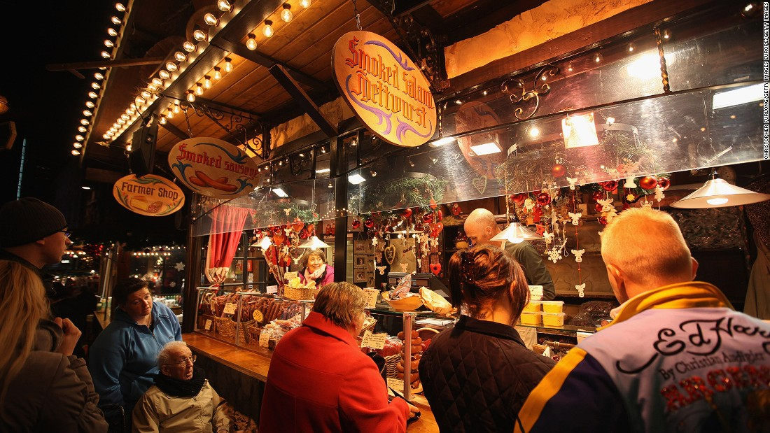"England's second city is Britain's Christmas market capital. With more than 180 stalls and a singing moose head called Chris, Birmingham claims that it's ""the largest authentic German Christmas Market outside of Germany or Austria."""