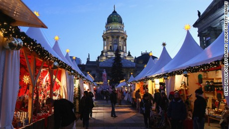 Berlin: Christmas market added architectural backdrop.
