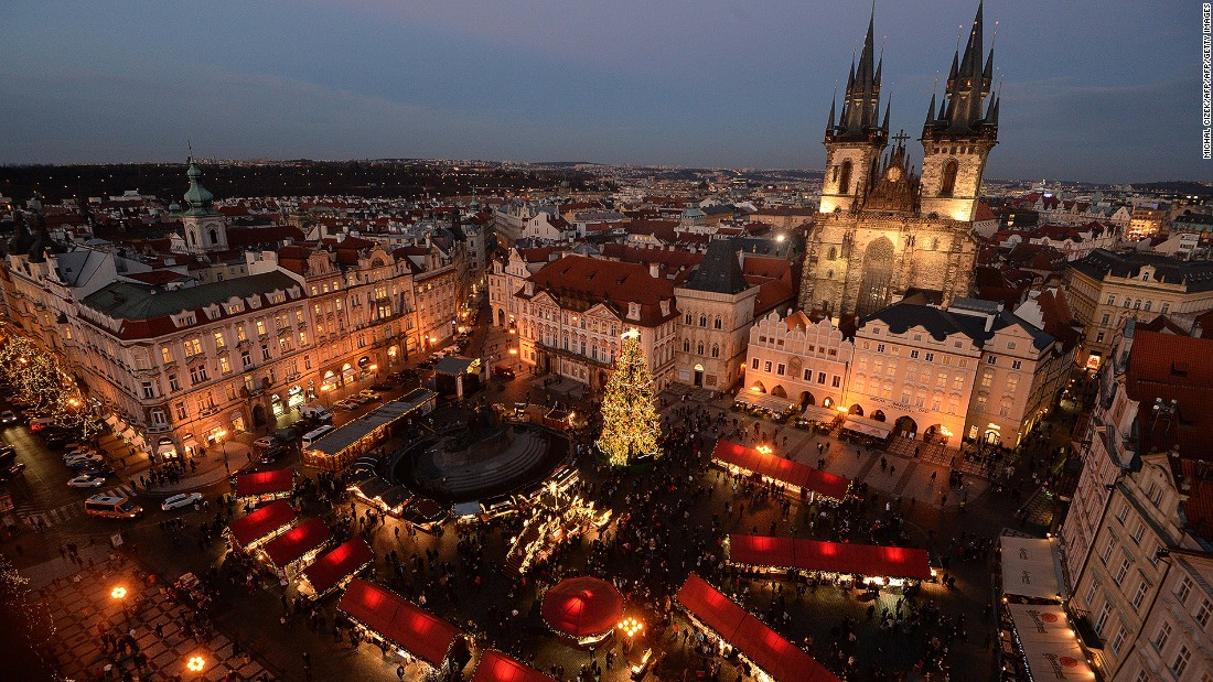 Prague's two main Christmas markets -- one in Old Town Square (pictured here) and one in Wenceslas Square -- are only a five-minute walk from each other, making them easy to visit in one day.