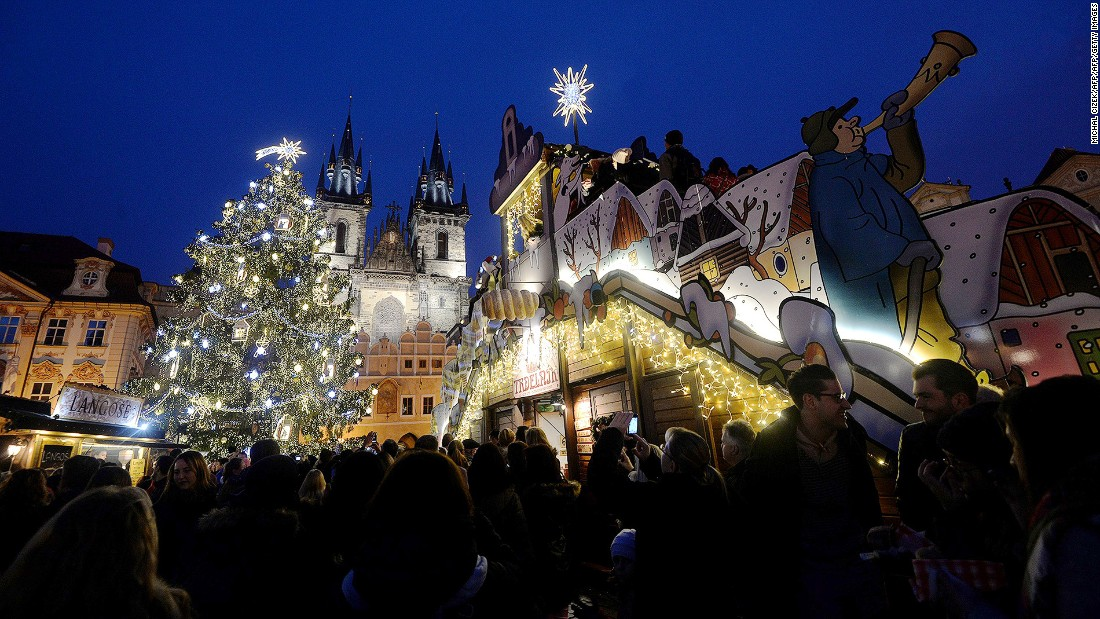 Czech treats -- chiefly a klobása (Czech sausage) with a Pilsner Urquell -- help make Prague's Christmas markets special.