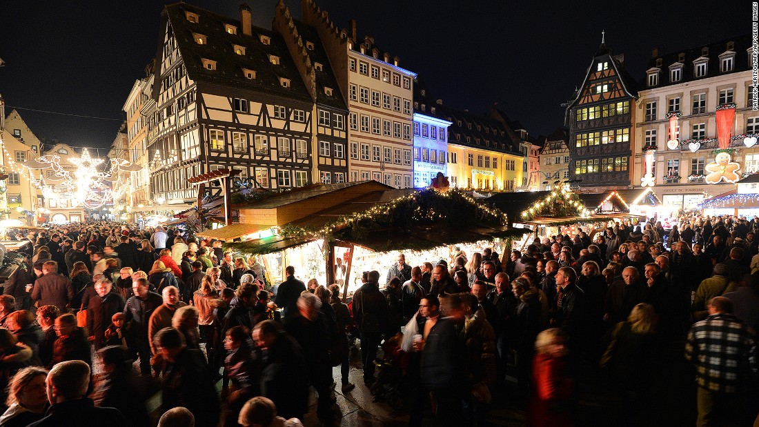 As the home to one of Europe's oldest Christmas markets, Strasbourg in eastern France knows how to do Christmas right. It boasts 300 market chalets, illuminations and a giant 30-meter Christmas tree in the city center.