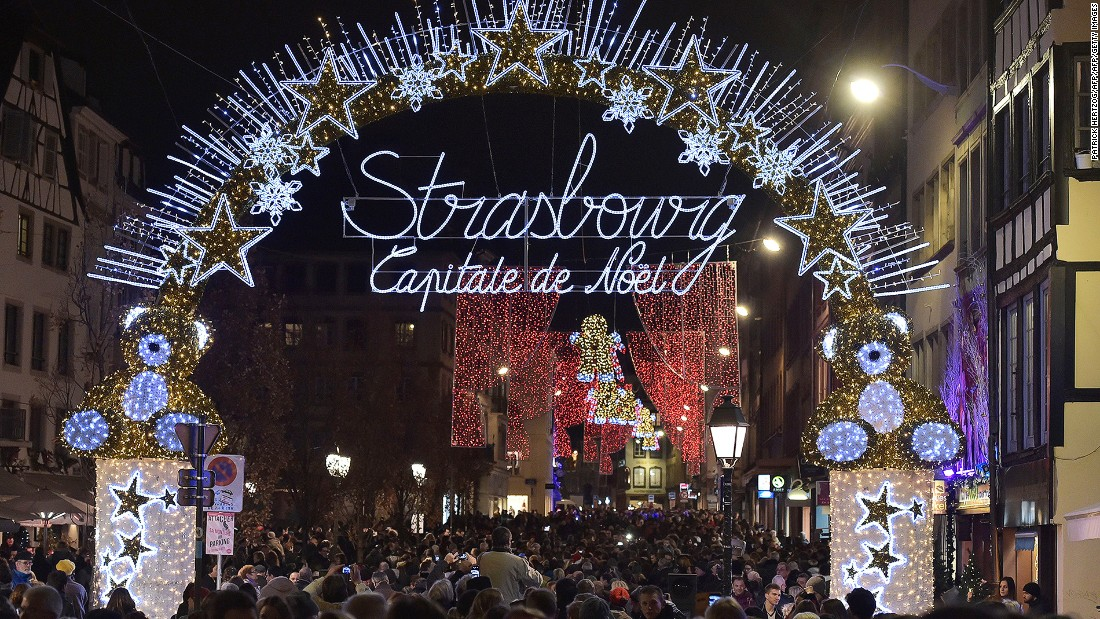 The market stalls are scattered around various locations along the narrow alleys of Strasbourg. This year, there'll also be a special Portuguese village selling treats like pastéis de nata and port wine.