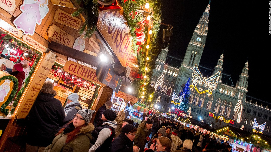 The popular Viennese Christmas Market in front of Vienna City Hall is as picturesque as the Austrian capital city itself.