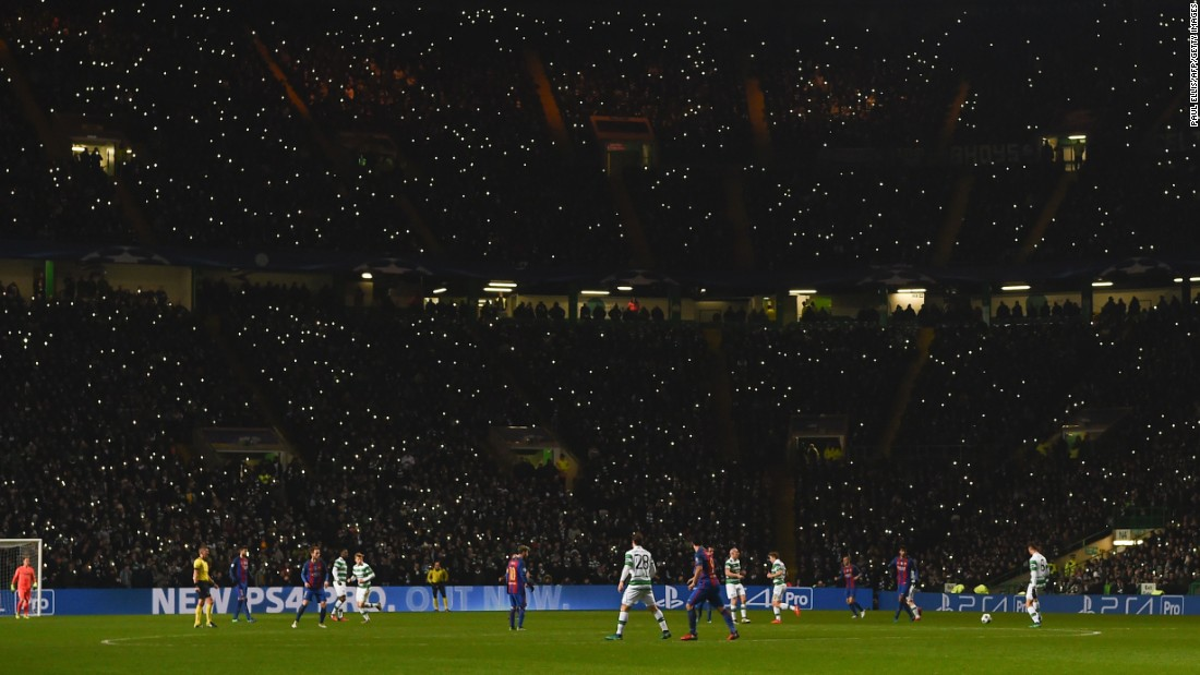 "Cell phones illuminate Celtic Park during a Champions League match between Celtic and Barcelona on Wednesday, November 23. <a href=""http://www.cnn.com/2016/11/22/sport/gallery/what-a-shot-sports-1122/index.html"" target=""_blank"">See 34 amazing sports photos from last week</a>"