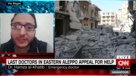 last doctors in eastern aleppo appeal for help intv doctor hamza al-khatib amanpour_00021313.jpg