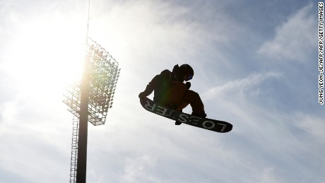 Fridtjof Tischendorf of Norway competes during the qualification for the FIS Snowboard World Cup Big Air event at Alpensia Ski Jumping Centre in Pyeongchang, 150 km east of Seoul on November 25, 2016.  The World Cup Big Air event is a test event for the upcoming PyeongChang 2018 Winter Olympic Games. / AFP / JUNG YEON-JE        (Photo credit should read JUNG YEON-JE/AFP/Getty Images)