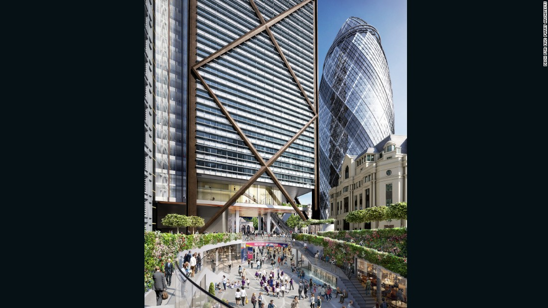 The skyscraper will contain a collaboration with the Museum of London, who will build an education center towards the summit. It will also feature a free viewing platform -- the highest in the UK.