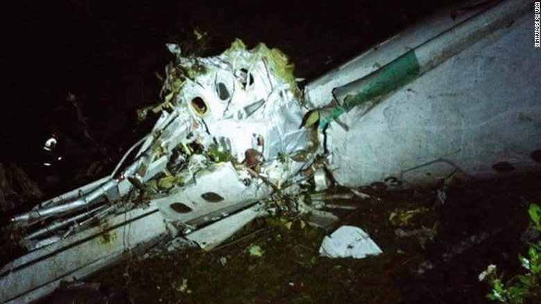 An airplane with 81 people on board, including players from a Brazilian football team, has crashed in Colombia, the country's aviation authorities said.