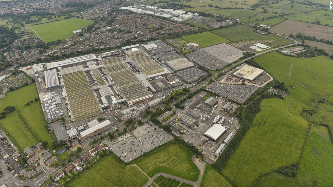 Owner Volkswagen is pumping a billion dollars into Bentley's facility in Crewe, UK.