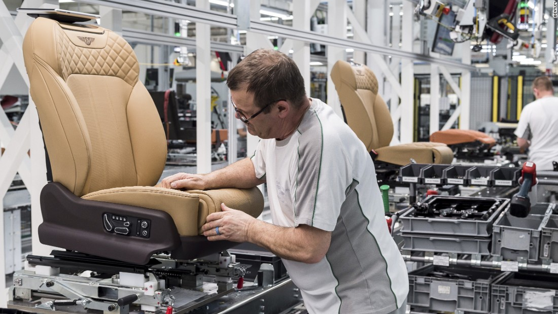 Bentley's factory in Crewe now employs more than 4000 staff.