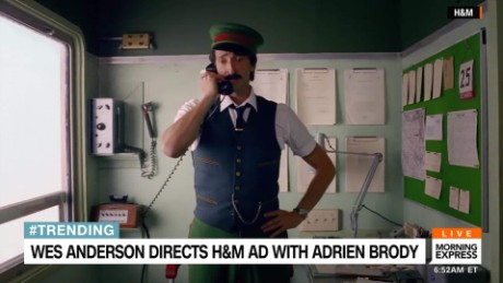 Morning Express Adrien Brody H&M ad_00001514.jpg