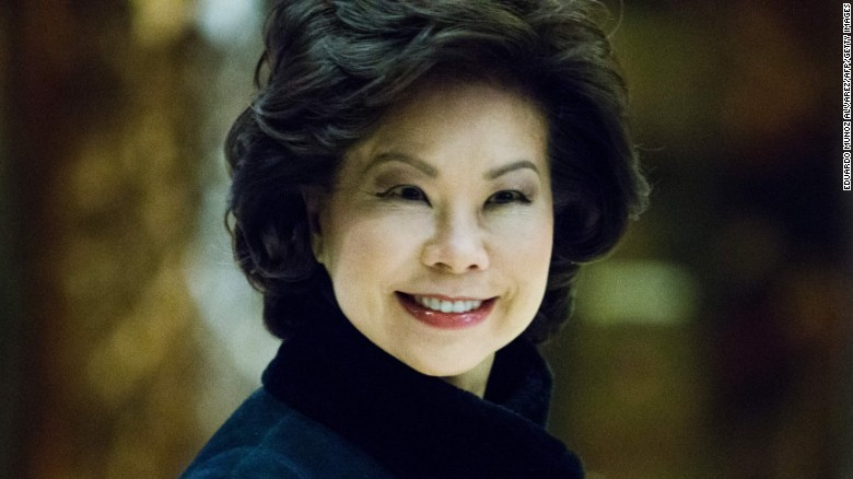 Elaine Chao named transportation secretary