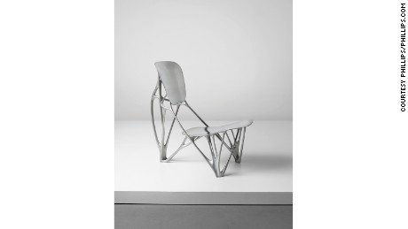 Dutch designer Joris Laarman's aluminium Bone chair sold for £344,500 ($430,100) in April 2016 at a Phillips auction in London.