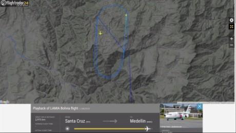 cnnee vo flightradar trayecto del avion de chapecoense_00004014