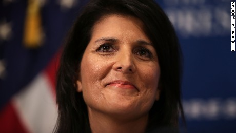 South Carolina Governor Nikki Haley addresses an audience at the National Press Club on September 2, 2015 in Washington, DC.