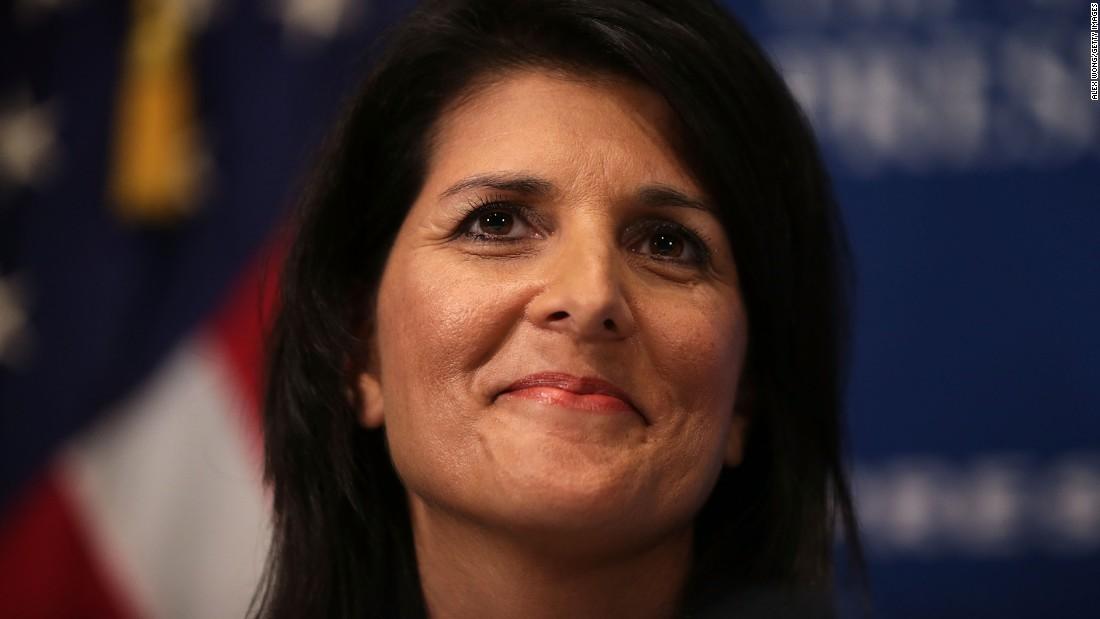 Haley: Trump nominee questions funding of UN