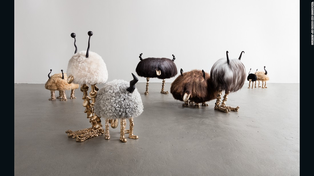 "The design world's favorite siblings, the LA-based Haas Brothers, always bring a bit of fun to Design Miami, and this year is no exception. The duo's furry ""Mini Beasts"" are on display with R&Company."