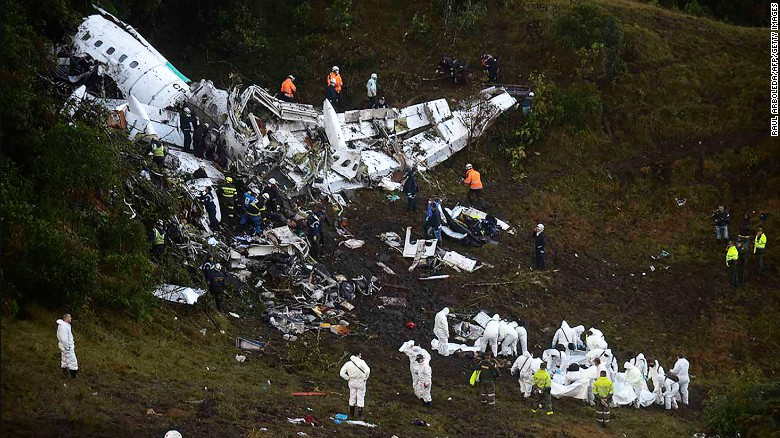 Plane carrying 77 crashes in Colombia
