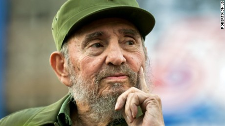 A portrait taken by Roberto Chile, who photographed Fidel between 1984 and 2006.