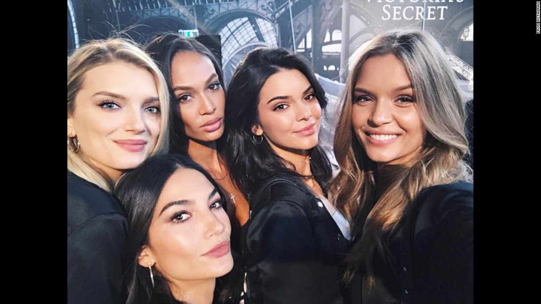 "Model Josephine Skriver, right, teased the Victoria's Secret fashion show with<a href=""https://www.instagram.com/p/BNXJDu2Bb_t/"" target=""_blank""> this Instagram selfie</a> on Monday, November 28. Joining her, from left, are fellow models Lily Donaldson, Lily Aldridge, Joan Smalls and Kendall Jenner. ""2 more days!!"" Skriver said."