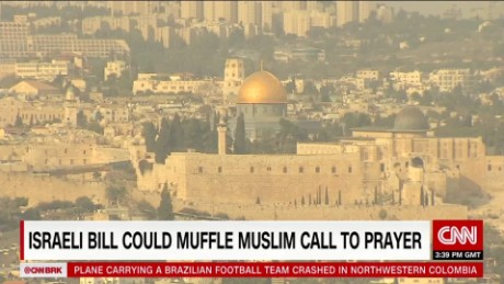 israeli bill could muffle muslim call to prayer dnt liebermann ctw_00001106.jpg
