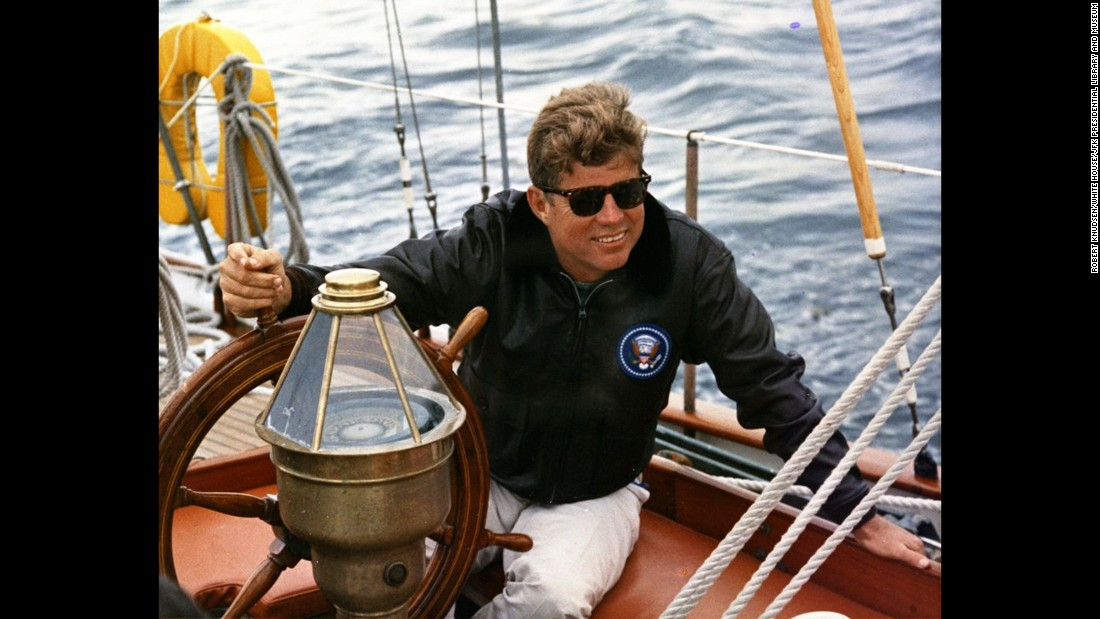 "John F. Kennedy, the 35th president, was fond of sailing, <a href=""http://www.usaswimming.org/ViewNewsArticle.aspx?TabId=0&itemid=8985&mid=14491"" target=""_blank"">swimming</a>, and <a href=""https://www.jfklibrary.org/Asset-Viewer/-srtLR9ebE60ZGRdU7cabw.aspx"" target=""_blank"">playing tennis</a> and golf. The Kennedy family also owned a <a href=""https://www.jfklibrary.org/Asset-Viewer/Archives/JFKWHP-ST-A19-41-62.aspx"" target=""_blank"">trampoline</a>."