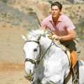Presidents exercise Ronald Reagan riding horse RESTRICTED