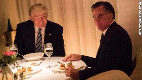 Romney and Trump meet for dinner