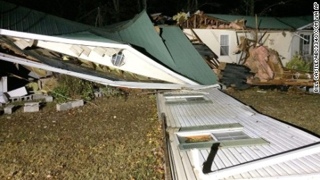 Winston County is among the areas in Alabama hit by a line of severe storms.