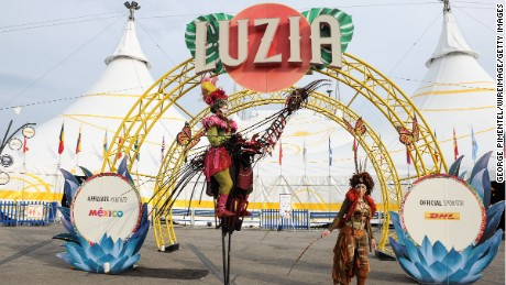 """TORONTO, ON - JULY 28:  A general view of the opening of Cirque Du Soleil's """"Luzia"""" at Port Lands on July 28, 2016 in Toronto, Canada.  (Photo by George Pimentel/WireImage)"""